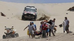 Emergency Air Rescue for Injured Dakar Rally Racer