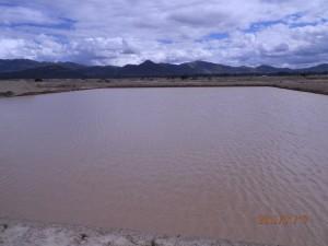 Jusku Molle reservoir up close