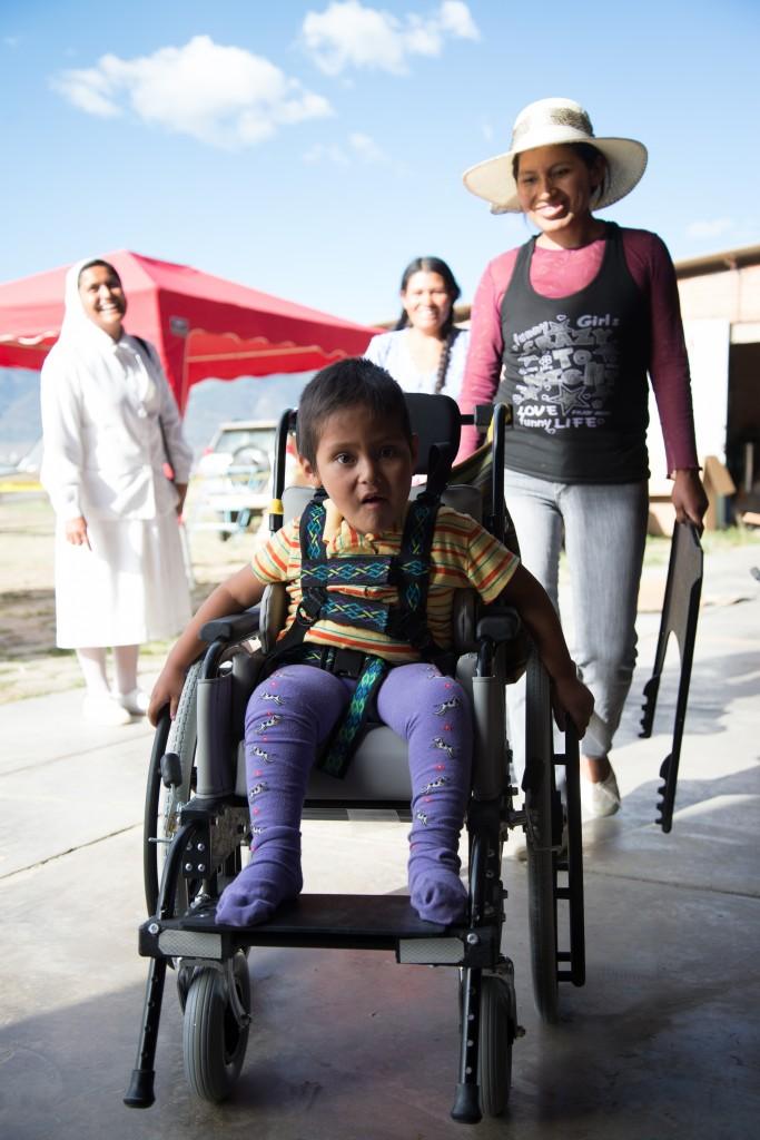 A wheelchair recipient.