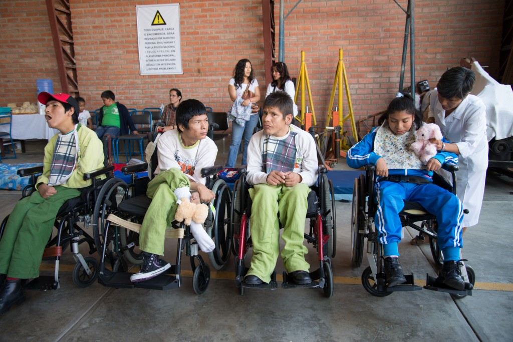 4 of 200 wheelchairs that were distributed by Mano a Mano (with support from Hope Haven International) to disabled Bolivians from a recent shipment in early December 2013. Check out a video of the distribution HERE.
