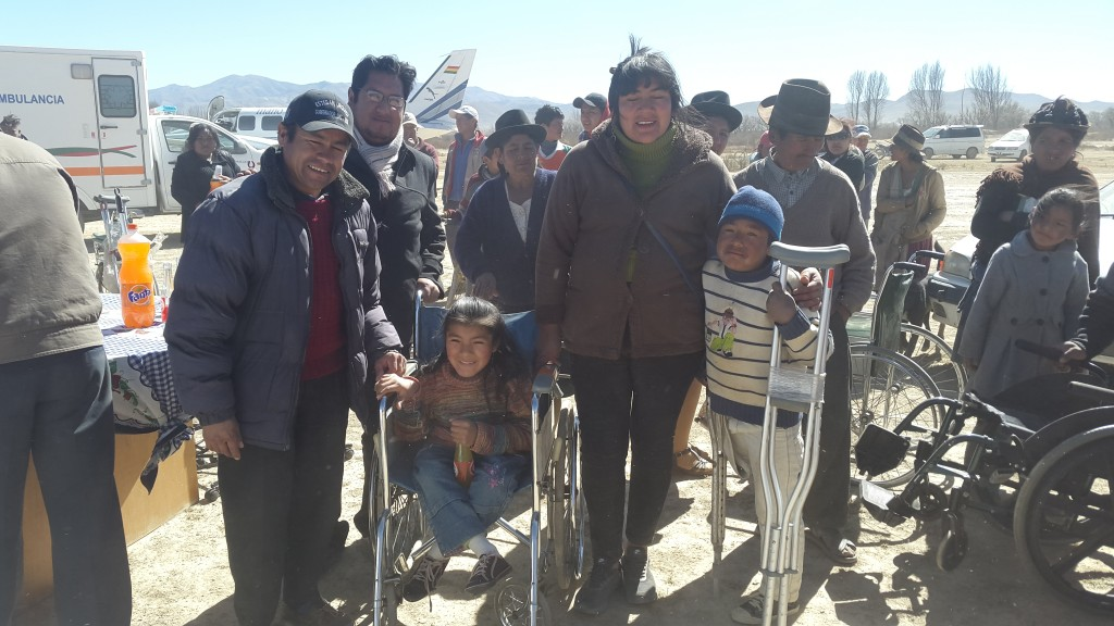 Distributing Supplies in Culpina, Bolivia