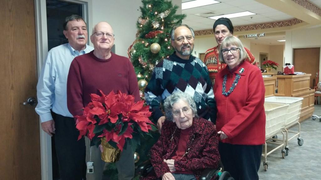 Margaret Eyre, Segundo Velasquez, Richard and Susan Eyre, and friends in Chicago, December 2015.