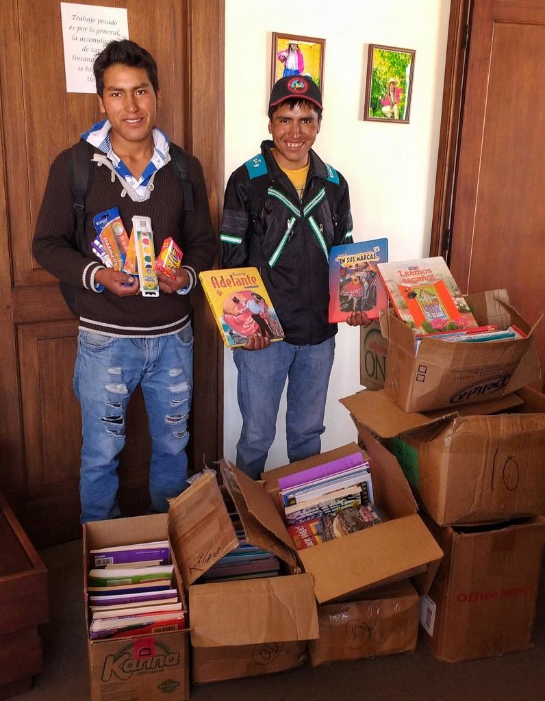 Donating School Supplies in Bombeo, Bolivia