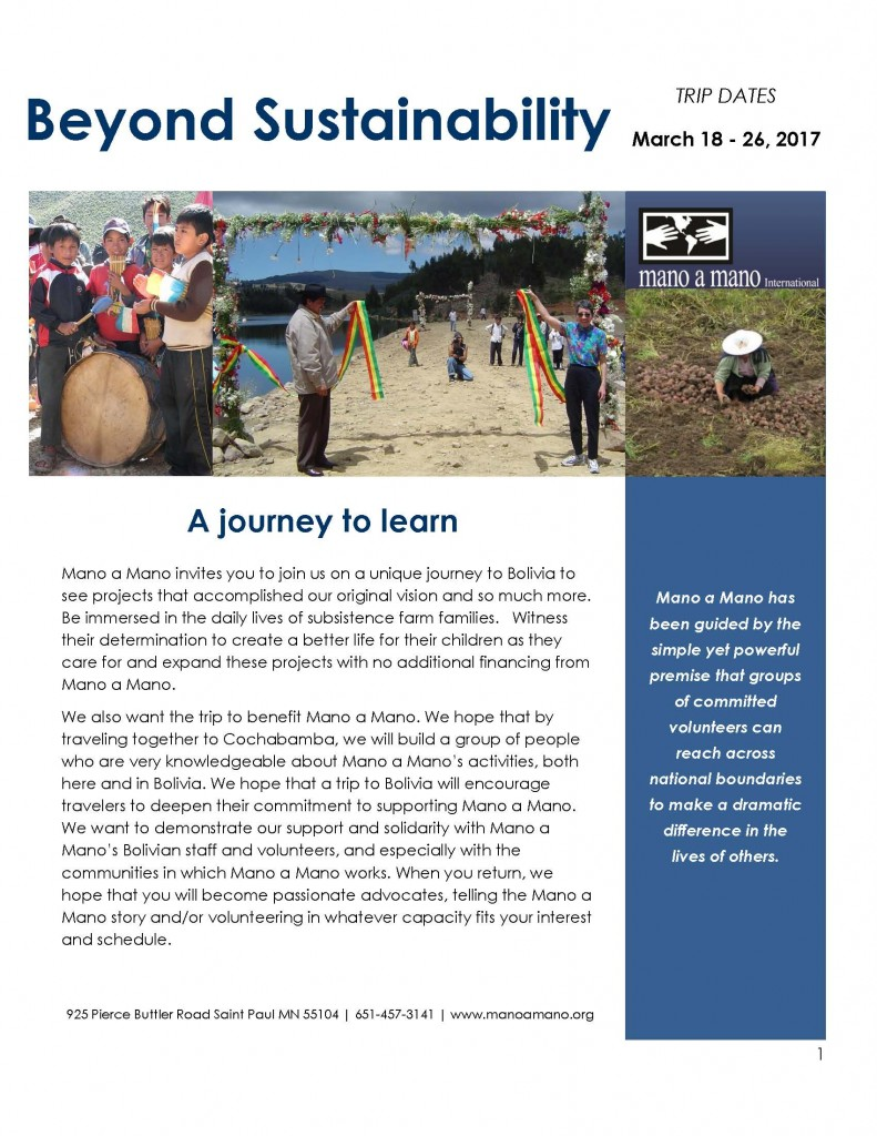 Interested in Traveling to Bolivia? Join Us in March 2017