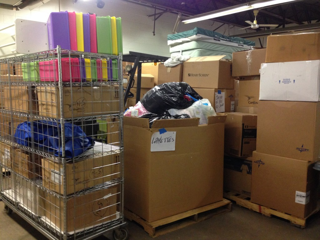 Our warehouse is full of supplies...Help us get these shipped and distributed to people in need!