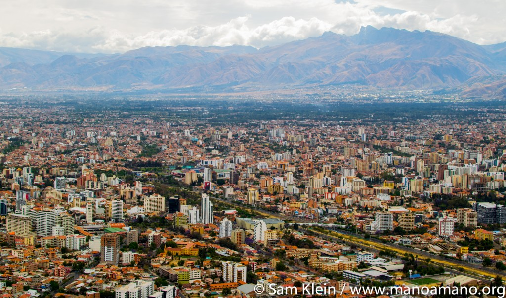 Cochabamba is the fourth-biggest city in Bolivia, and is where Mano a Mano operates in Bolivia. It is also the city where Joan and Segundo Velasquez first met.