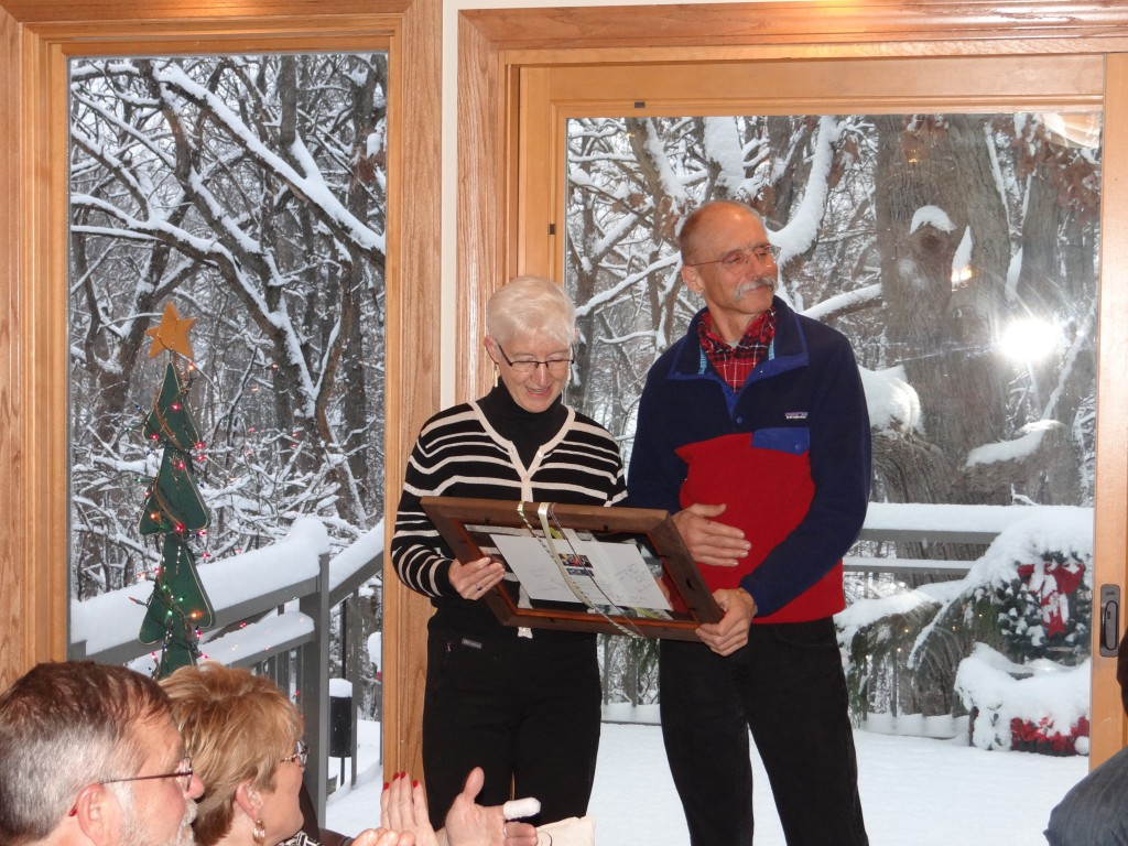 In December, Mano a Mano had a small get-together to thank 2 of our most dedicated volunteers, Ray Wiedmeyer and Karen Abraham.