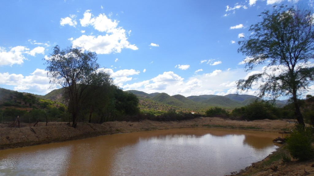 Mano a Mano water pond with water - Omereque, Bolivia, December 2016.