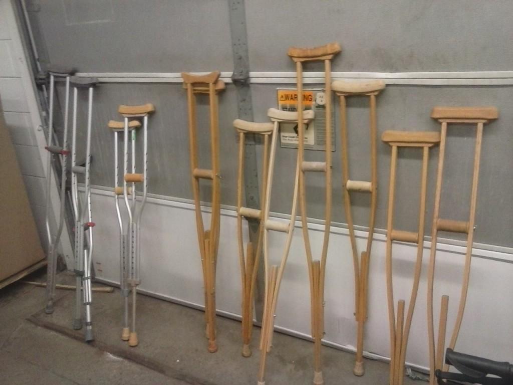 A few orphan crutches left...