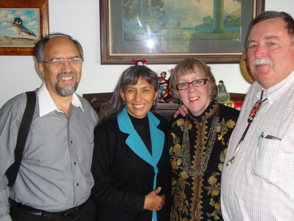 From left to right: Mano a Mano co-founder Segundo Velasquez, Mano a Mano Internacional Board Member Maria Blanca Velasquez, Susan Eyre, and Richard Eyre.