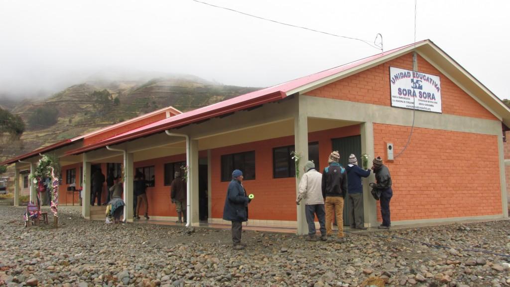The 'Margaret Eyre' school in Sora Sora, Bolivia was dedicated on June 28, 2016.