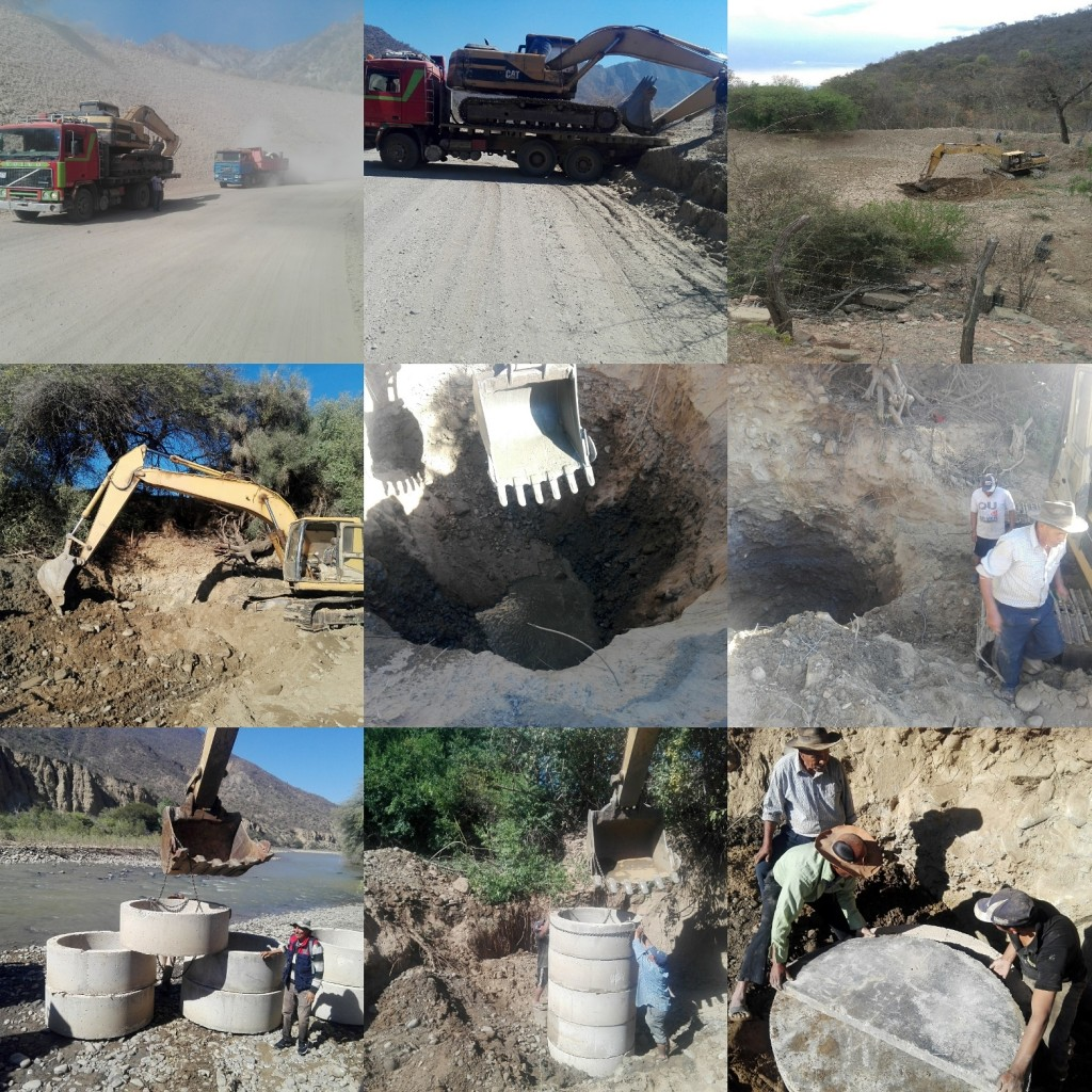 Building a well in Omereque, Bolivia in 2017.