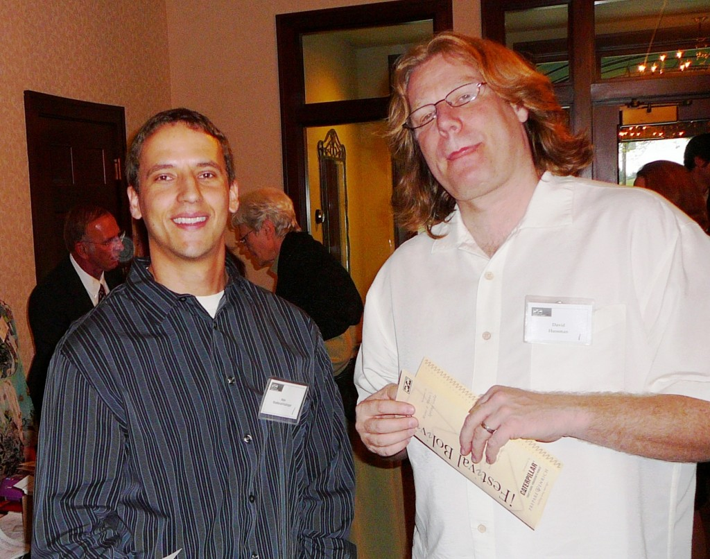 Nate Knatterud-Hubinger and David Hussman at Mano a Mano's annual event in 2010.