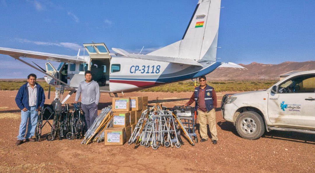 Flying Medical Supplies to Cotagaita, Bolivia