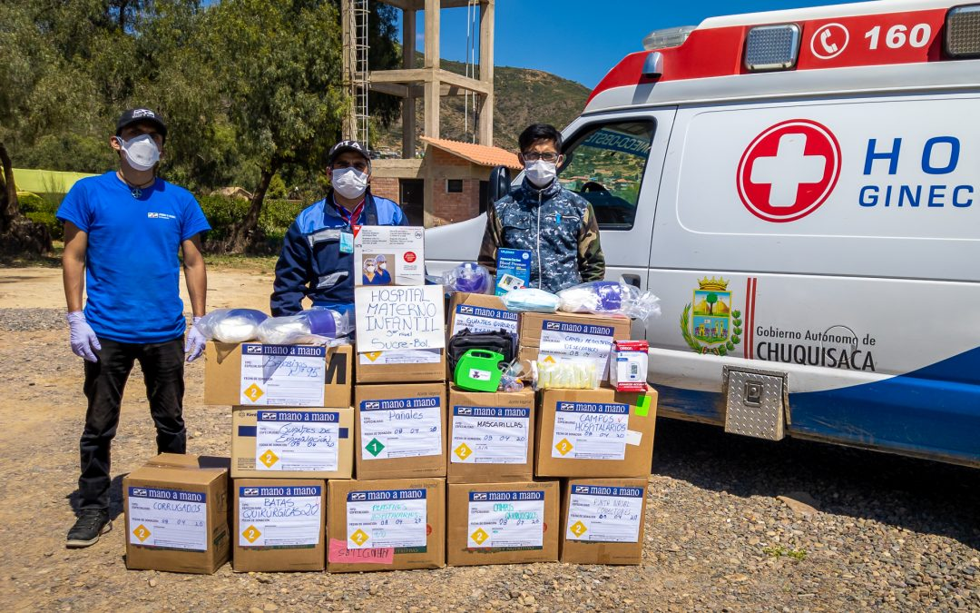 Donating PPE and Medical Supplies to Hospital Gineco-Obstetrico in Sucre, Chuquisaca, Bolivia