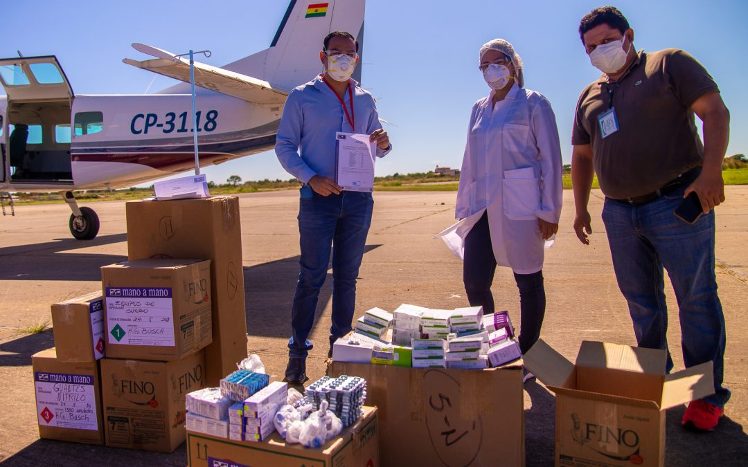 Flying Medical Supplies & Equipment to Beni for COVID-19 Support