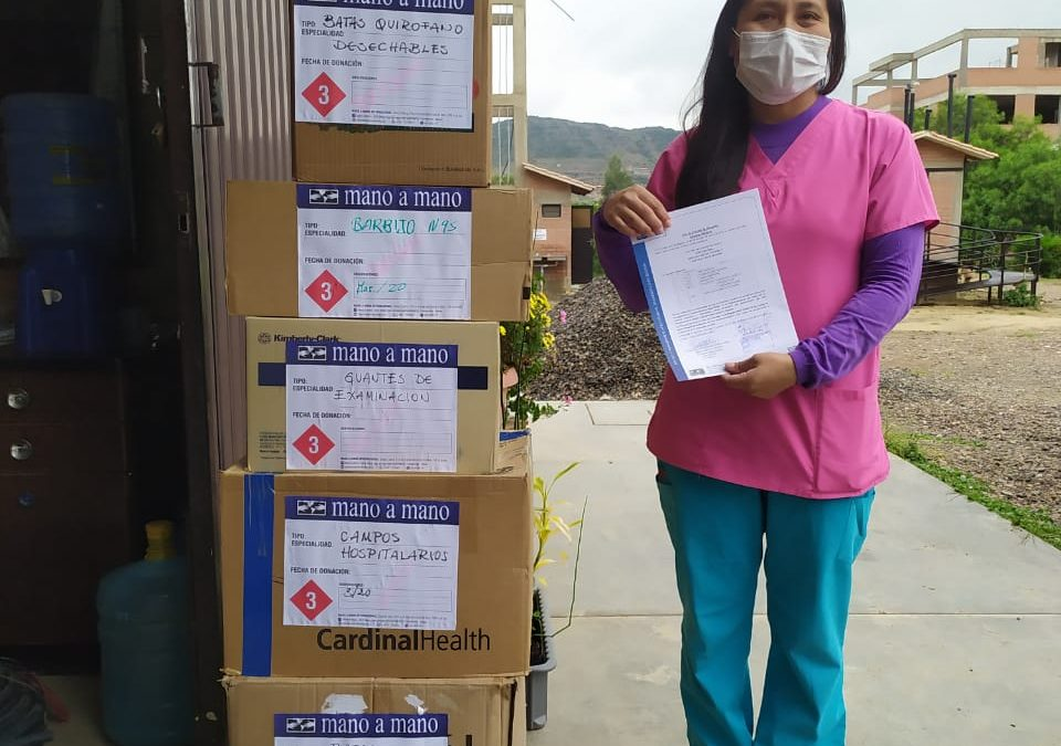Donating PPE and Medical Supplies to 33 Organizations Responding to COVID-19 in Bolivia