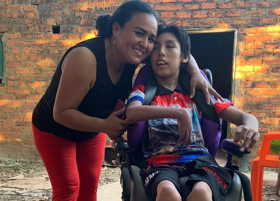 Donating a Wheelchair for Gustavo in Trinidad, Bolivia