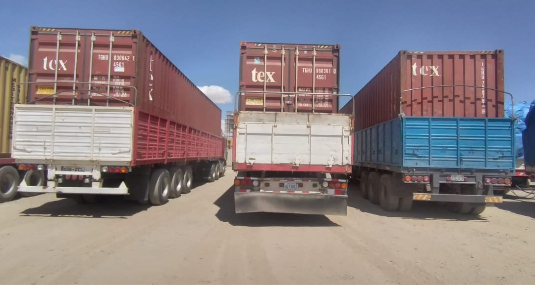 3 Containers with Medical Supplies & Equipment Arriving at Our Warehouse in Cochabamba, Bolivia